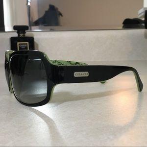 Coach Accessories - Coach Ginger Sunglasses Black & Green